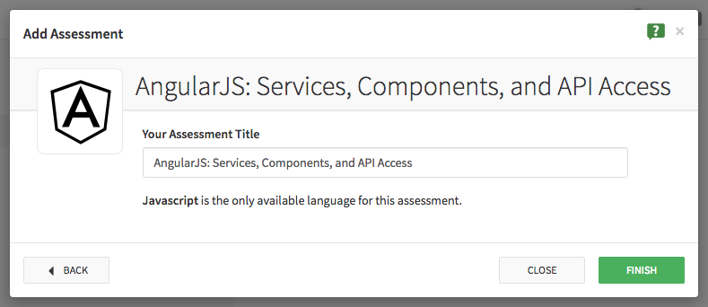 Add Assessment Dialog 3