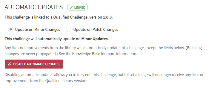 Receive automatic challenge updates from Qualified